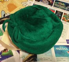 Plush Green Vintage Hat Womans
