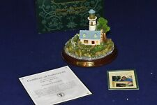 """Thomas Kinkade Seaside Memories lighted lighthouse """"A Light In The Storm"""" 1999"""