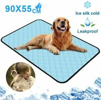 Pet Cats Dog Cooling Mat Washable Waterproof Pad Ice Silk Self Cooling Blanket