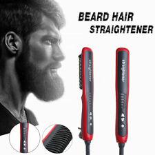 Men Beard Curling Straightener Brush Hair Comb Straightening Show Cap Quick Iron