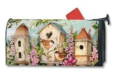 Cottage Birdhouse Mail Box Wrap flower magnetic Mailwrap mailbox cover Standrd