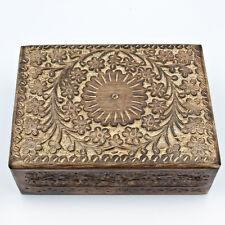 Schmuckschatulle Holzkasten Kästchen aus Holz schatulle Schmuckkasten Blumen MH