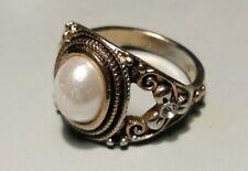 Dress Ring Fake Pearl Stone