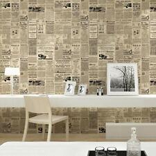 Retro Nostalgic English Newspaper Alphabet Non-Woven Wallpaper For Study Room