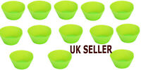 12x Green Silicone Round Reusable Muffin Cases,Ideal Cupcakes,Muffins,Chocolate