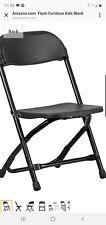 1 PIECE Black Flash Furniture Kids Folding Chair Plastic Seat Lightweight