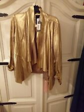 Guess Gold Waterfall Front Jacket. Bnwt. Size Large.