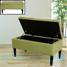 Design polstertruhe Fabric Seating Bench Wooden Legs Hall Storage Furniture Box