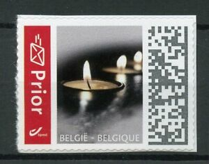 Belgium 2019 MNH Mourning Bereavement Prior 1v S/A Set Candles Stamps