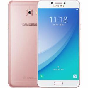 "Samsung Galaxy C7 Pro C7010 Pink 5.7"" 16MP 64GB 4GB RAM Android Phone By FedEx"