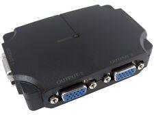 NEWLINK 4 Port S-VGA Signal Splitter Boost Box 350 Mhz 1 to 4 Monitors USB Power