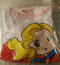 DC Comics Girl, Supergirl, Superhero Long Sleeve T-Shirt 5T, Glittery Lettering