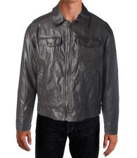 NEW Mens/Boys Stunning Levis Brown Faux Leather Insulated Bomber Jacket Size M