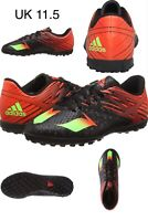 adidas Mens Boys MESSI 15.4 TF Astro Turf Football Boots Shoes Black Red UK 11.5