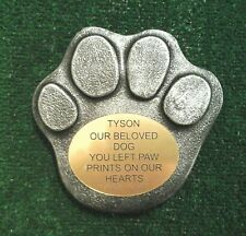 Dog Large Pet Memorial/headstone/stone/grave marker/memorial paw laminate