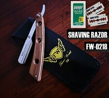 BARBER SALON STRAIGHT CUT THROAT SHAVING RAZOR RASOIRS RASOI NAVALHA + 10 BLADES