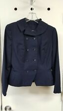 True Vintage 1940's Lady's Dark Navy Wool 2 pc Suit Double Breasted