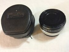 Kenko AUTO TELEPLUS 2x teleconverter converter Lens Caps CF Made In Japan Case
