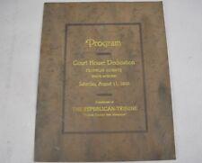 Antique Franklin County Court House Dedication Program