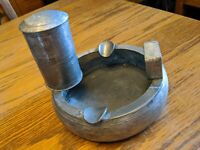 RARE ANTIQUE ART DECO ASHTRAY CIGARETTE TOBACCO HOLDER BANKA TIN WERKS TOKO VTG