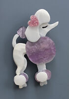 Unique Large poodle Pin Brooch In acrylic