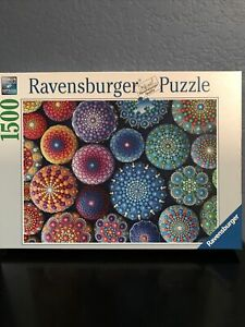 Ravensburger 1500 Piece jigsaw puzzle One Dot at a Time Geometric spheres circle
