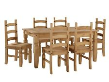 Corona Large Extending Dining Table and 6 Chairs Set Pine by Mercers Furniture®