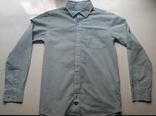 Camisa De Manga Larga Blanco de rayas Verdes CYRILLUS 12 años Excelente Estado