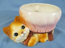 Small Ceramic Kitty Cat Planter by Luv Imports