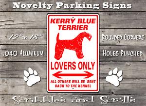 Kerry Blue Terrier Dog Lovers Parking Sign Mancave Garage Kennel Hound Breed