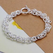 Fashion 925 Silver plated Jewelry Dragon T-O Bracelet For Women H033