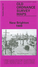 OLD ORDNANCE SURVEY MAP NEW BRIGHTON TOWN CENTRE WARREN DRIVE 1909