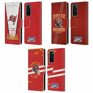 OFFICIAL NFL TAMPA BAY BUCCANEERS LOGO ART LEATHER BOOK CASE FOR HUAWEI PHONES