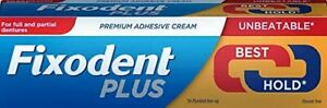 6 x Fixodent Plus Dual Power Best Hold 40g Denture Premium Adhesive Cream Strong