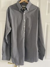GANT Shirt Size XL Black White Gingham 2 Ply 180s Long Sleeve