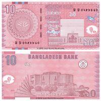 Bangladesh 10 Taka 2010 P-47c Banknotes UNC