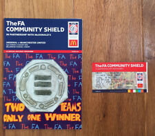 Arsenal v Manchester United: Fa Community Shield 2004 with Ticket & Team Sheet