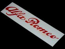 "6"" 152mm alfa romeo script Decal Sticker gta gtv 147 155 156 159 giulietta 1300"