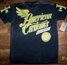 """AFFLICTION """"SPEEDWAY"""" BURNOUT AMERICAN CUSTOMS SERIES SS TEE SIZE L NWT"""