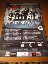 Saving Abel Art of Dying Black Lite District Rock 4 Revival Tour Poster