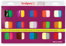 SCULPEY III Polymer Clay Multipack 30 Colors Pack Sampler Modeling Set