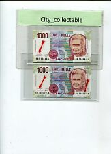 WORLD BANK NOTE - ITALY 1000L UNC NICE NO DIFF GOVERNORS # B205