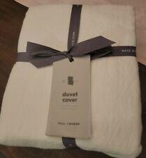 West Elm Belgian Flax Linen Full/Queen Duvet Cover - Brand New