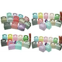 Party Favour Boxes x 12 Candy Bomboniere Gift Cardboard Gable Sweets Cake