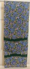 TERRIART Gold and Purple Flowers with Green Leaves 11x52 Lg Scarf-Vintage