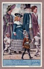 Giants In Belgian Parades And Festivals Brussels Belgium 75+ Y/O Trade Ad Card