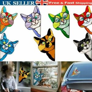 Funny Cat Decor - Christmas Gifts Home Wall Window Car Glass Cute Sticker