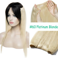 One Piece THICK Secret Wire No Clip In 100% Remy Human Hair Extensions Real J804