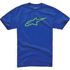 NEW ALPINESTARS AGELESS CLASSIC TEE ROYAL BLUE/YELLOW LOGO TEE SIZE XL $12.99