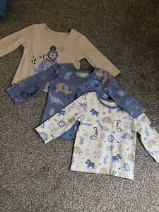 baby boy 3-6 months bundle Long Sleeve Tops Trousers With Feet Joggers